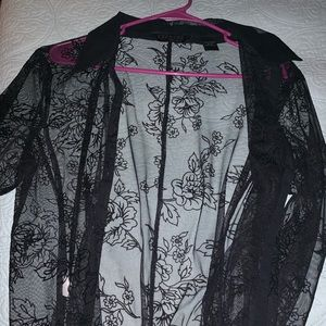 Black sheer express blouse